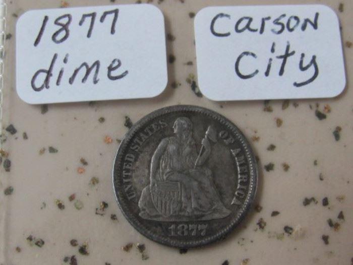 1877 Carson City Dime