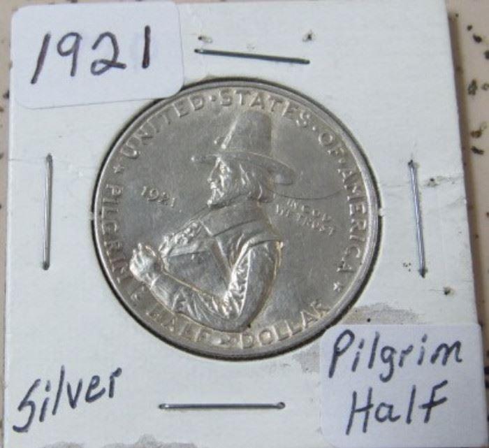 1921 Pilgrim Half Dollar