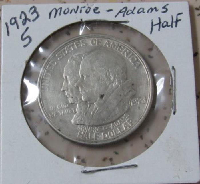 1923-S Monroe-Adams Half Dollar