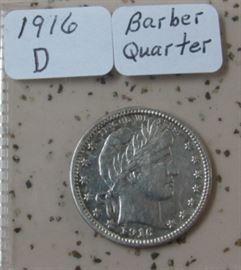 1916-D Barber Quarter