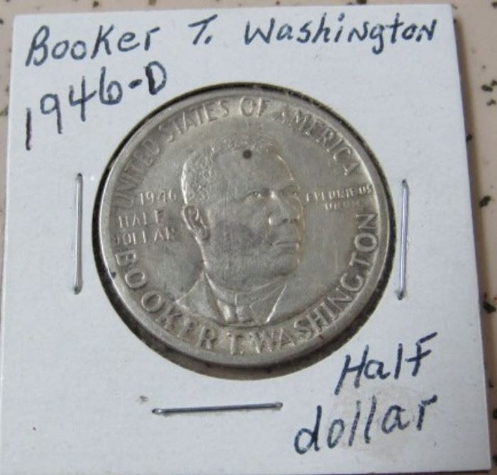1946-D Booker T. Washington Half Dollar