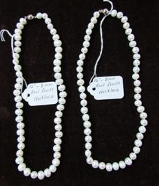 """16"""" - 8 mm Real Pearl Necklaces"""