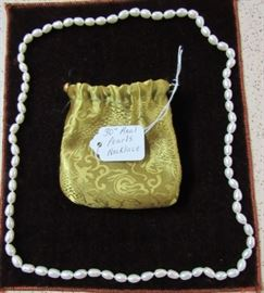 """30"""" Real Pearls Necklace"""