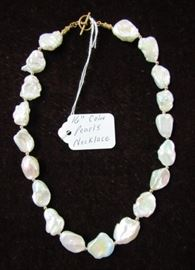 """16"""" Coin Pearl Necklace"""