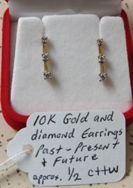 10K Gold & Diamond Earrings