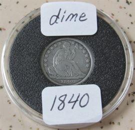 1840 Seated Liberty Dime