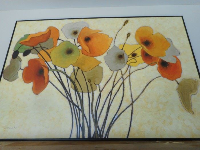 Mid Century Textured Wild Flowers