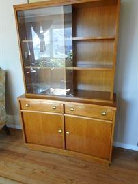 Mid Century. Century Furniture. Hutch/Curio. Glass Sliding Doors..Compact Size