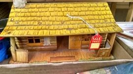 Vintage Tin Log Home etc.