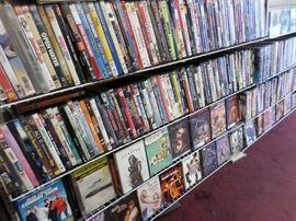 dvds $1 each, cds $1 each