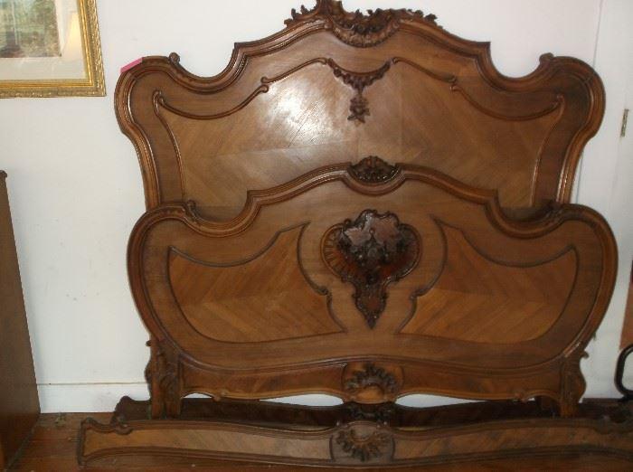 Antique mahogany bed