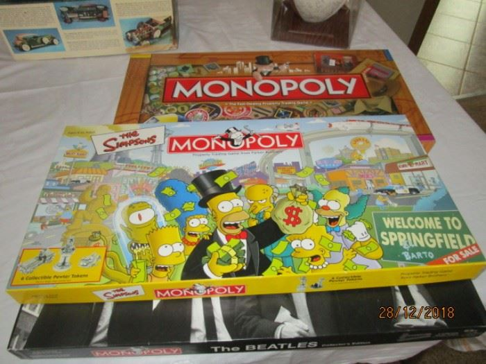 COLLECTIBLE MONOPOLY GAMES - BEATLES, SIMPSONS, BOY SCOUTS ANNIVERSARY ISSUE