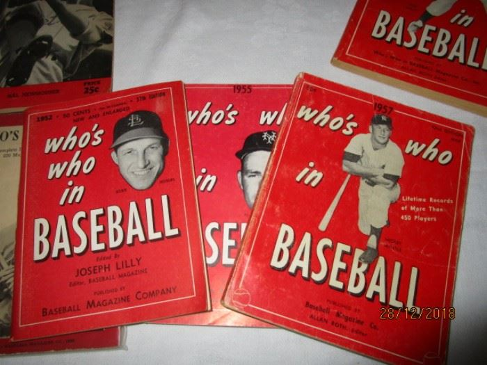 WHO'S WHO IN BASEBALL BOOKS