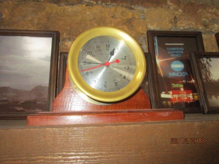 BELL COMPANY SHIP'S CLOCK QUARTZ