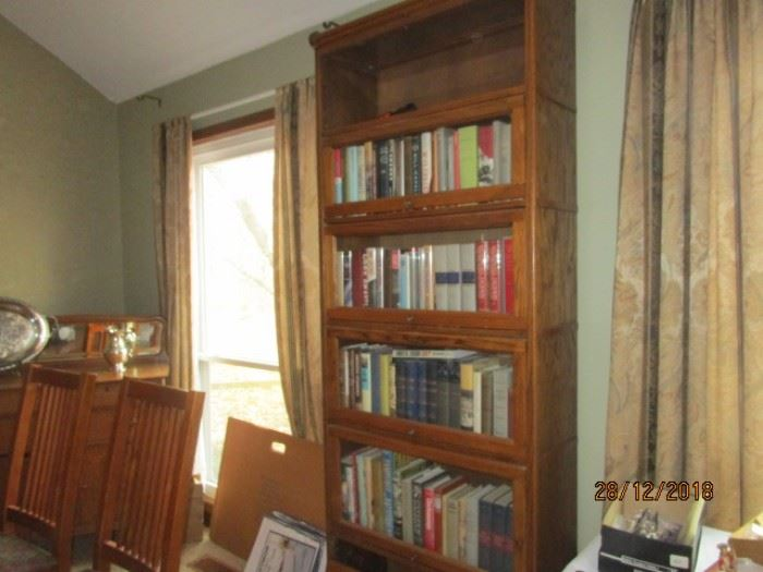 ONE OF 2 LAWYER'S BOOKCASES