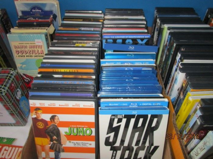 DVDS INCLUDING BLUE RAY
