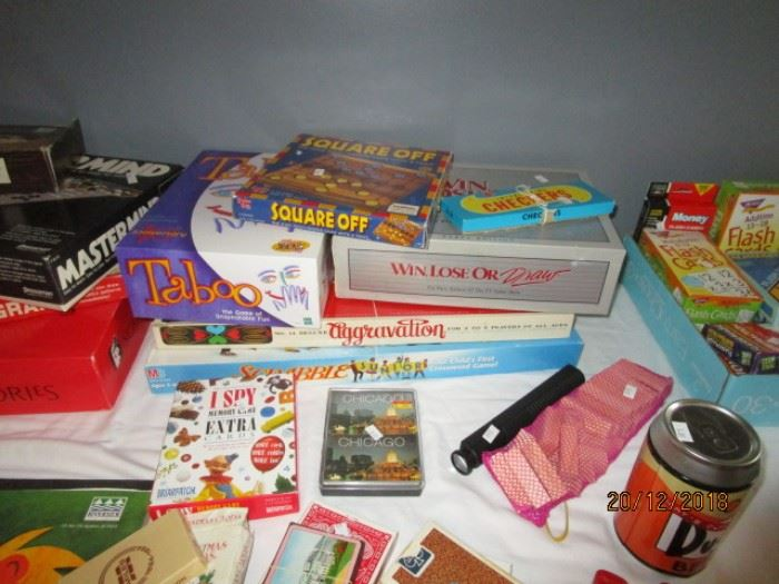 VARIOUS GAMES INCLUDING BOARD GAMES