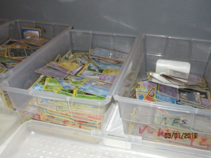 Pokemon trading and game cards