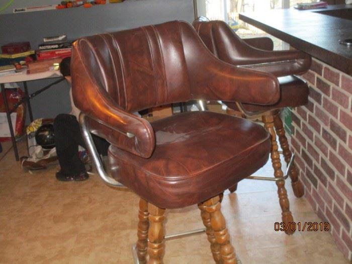 one of 3 swivel bar stools