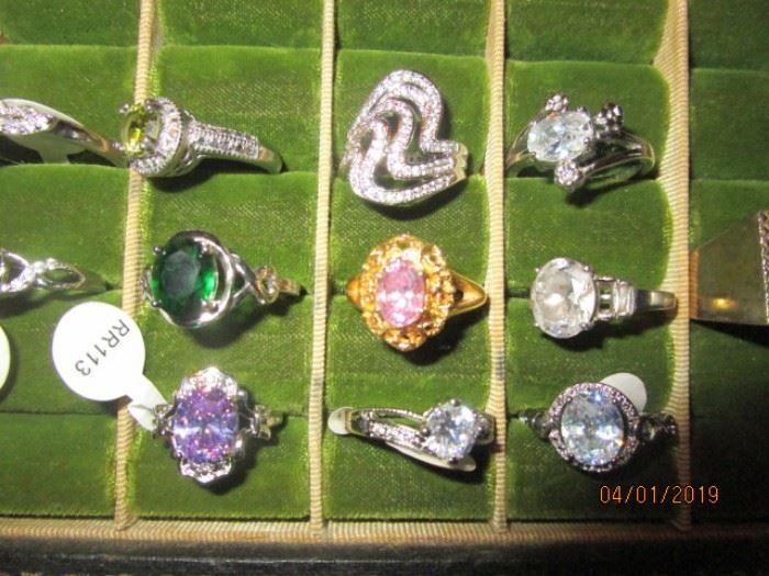 New gem stone rings