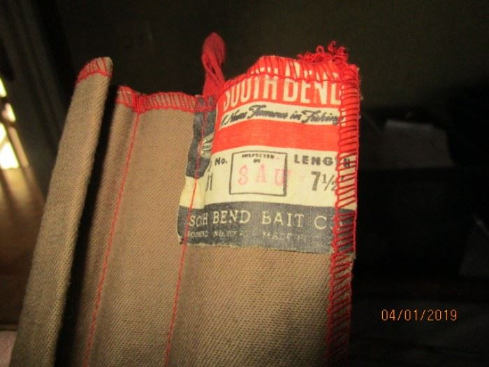Vintage South Bend fishing rod in case