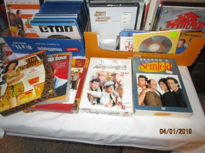 DVDs including TV series