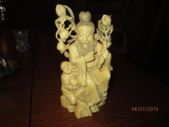 Carved Soapstone of Chinese figurine