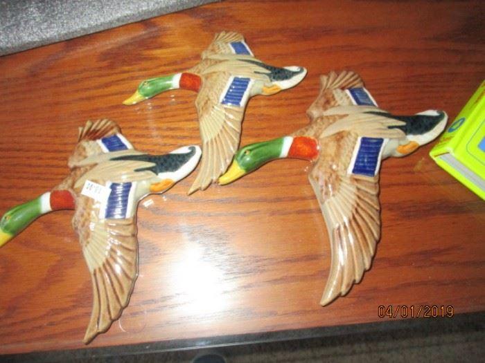 Mid century porcelain geese or ducks