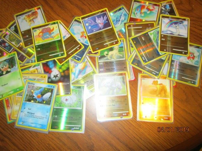 Holographic Pokemon cards (about 400 of this type))