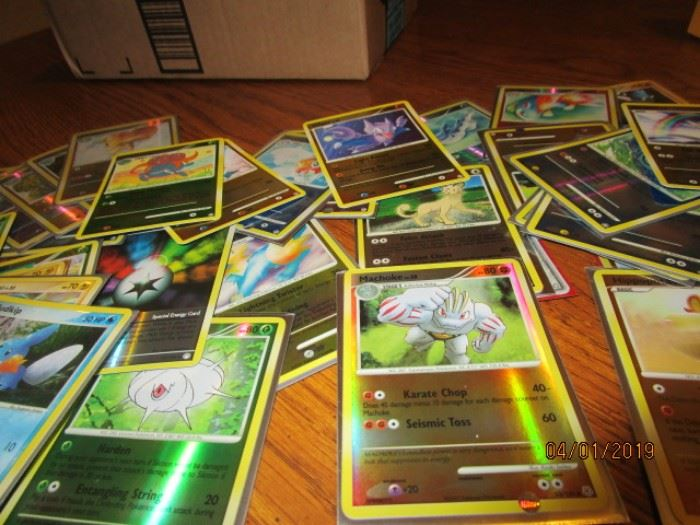 more Holographic Pokemon cards
