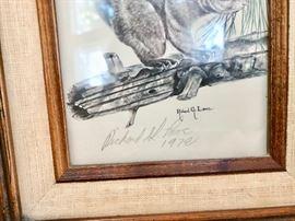 Richard G Lowe signed Litho