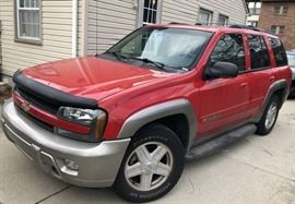 2002 Chevy Trail Blazer 4 Wheel Dr 85,000 miles. $3,800 or best offer.