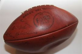 PACKERS PUNT PASS KICK 1961 SIGNED FORD FIELD