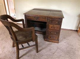 Antique Globe Furniture Desk