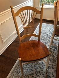 Dining chairs, 6, Giguere & Morin (selling with the table as a set)