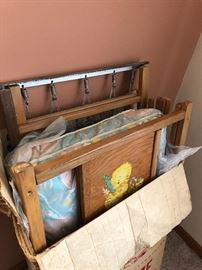 Vintage 50's doll crib with decals