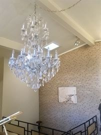 5ft tall crystal chandelier