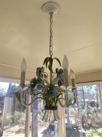 Vintage tole light fixture