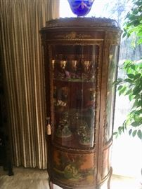 Another (two available) antique French curio cabinet