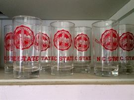 NC State drinking glasses