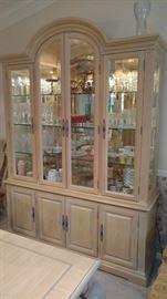 Bernhardt china cabinet, lighted