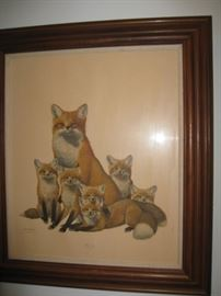 Ray Harm Red Fox print-signed