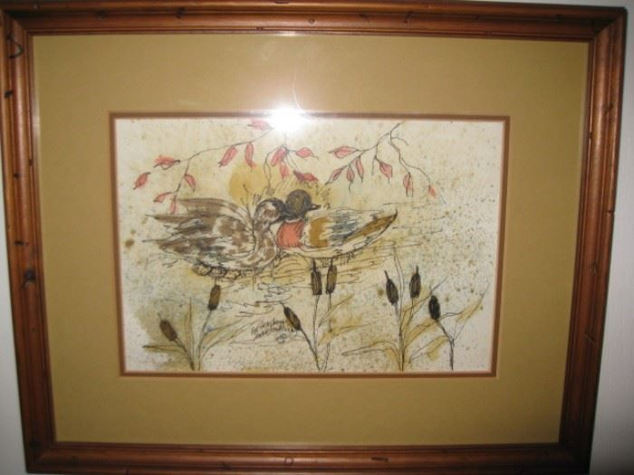 "Anna Sandhu Ray painting-signed ""For God and James"" for her then husband, James Earl Ray.  This is dated 1982."
