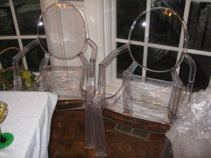 2 of 5 brand new Ghost Chairs-acrylic