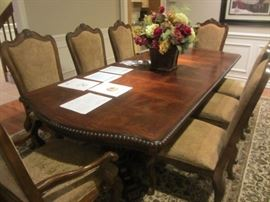 """UNIVERSAL """"VILLA CORTINA"""" DINING ROOM SET INCLUDES TABLE W/8 CHAIRS AND SIDEBOARD"""