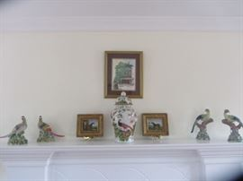 CHELSEA HOUSE BIRDS, MINIATURE HORSE PAINTINGS