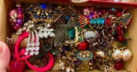 Ton of vintage costume jewelry.