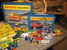 Vintage Hot Wheels & Matchbox cars, cases