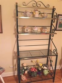 Beautiful baker's rack with glass shelves