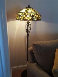 Tiffany style floor lamp